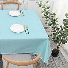 Kerst Rechthoekig Tafelkleed - Modieuze Kerst Huishouden Katoen En Linnen Tafelkleed Rechthoekige Wasbare Tafelkleed Blauw...