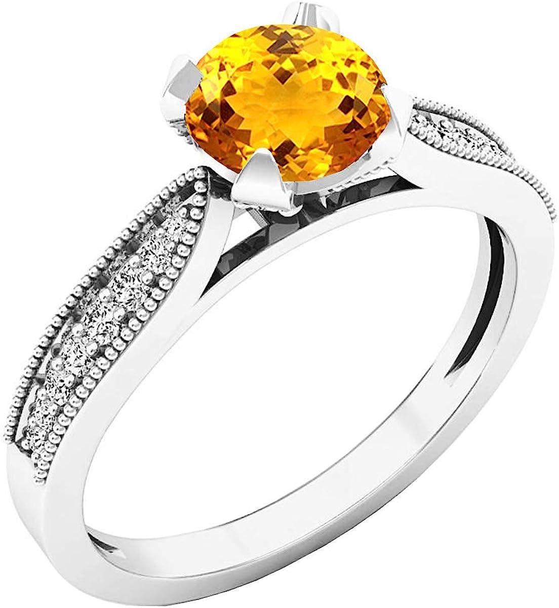 Dazzlingrock Collection 6 MM New Orleans Mall Round Bri Inexpensive Ladies Diamond Gemstone