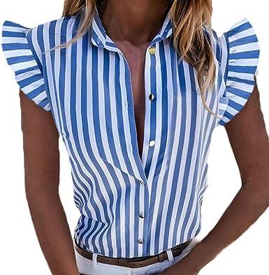 HaiDean Camisa a la moda mujer Blusa para Verano Modernas ...
