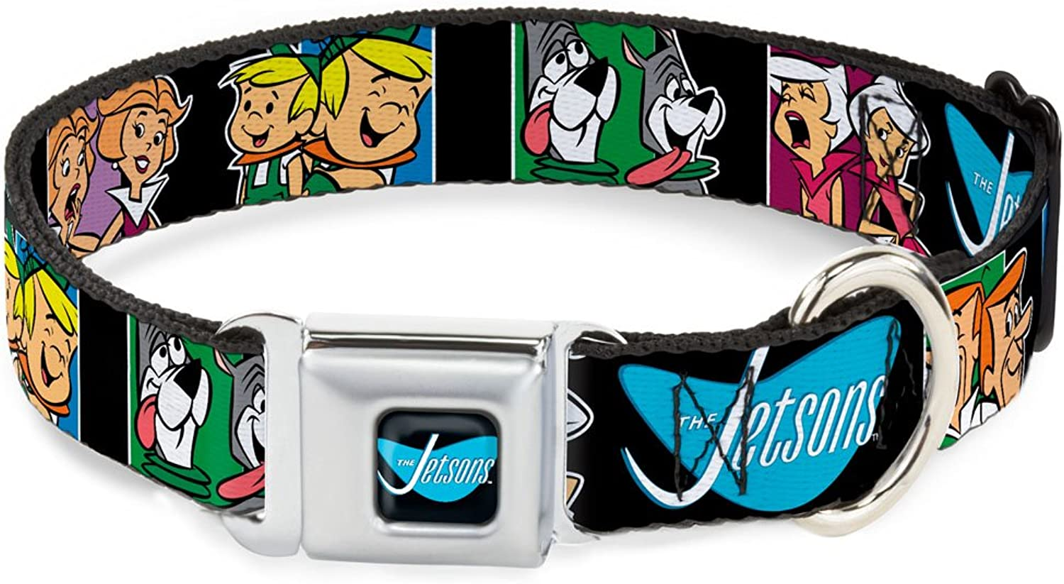 BuckleDown DCWJS003WL Dog Collar Seatbelt Buckle, The Jetsons Character Panel Expressions, 1.5  by 1832