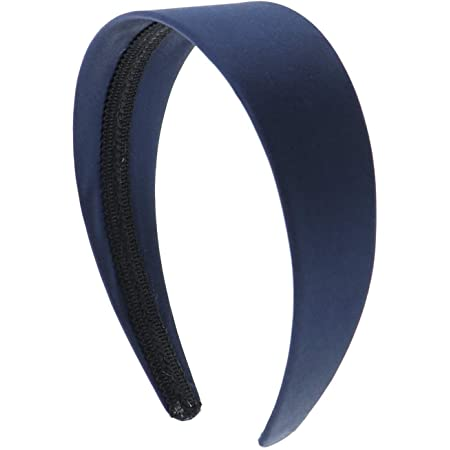 10pieces navy blue satin metal hair headband covered 5mm wide