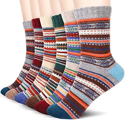 Emooqi Herren Socken, 6 Paare Baumwollsocken/Warme Wintersocken Socken für Herren Size 38-45