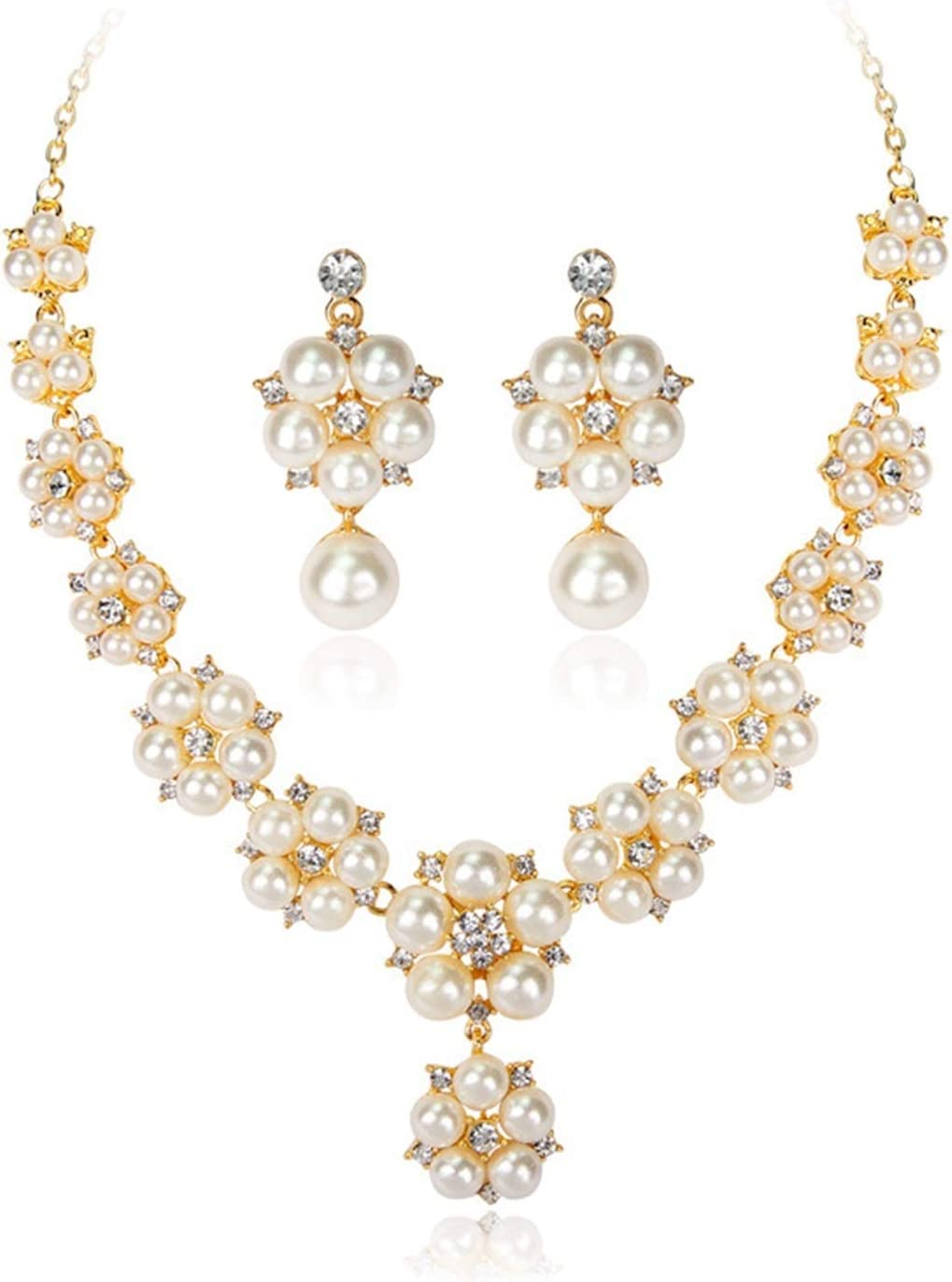 SFQRYP Fashion Minneapolis Mall At the price of surprise Items Pearl Jewelry Accessories Set Bride N