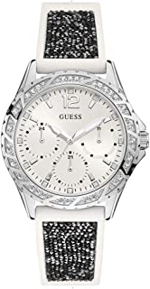 Guess Swirl Trendy Women's White Dial Silicone Band Watch - W1096L1