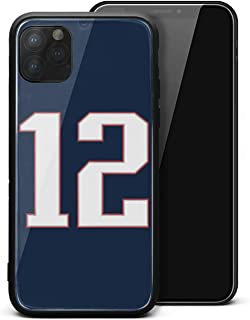 Cell Case for iPhone 11 Pro Max Tempered Glass Anti-Scratch Black TPU Rubber Bumper Personalised Skin Back Cover for Unisex Womens