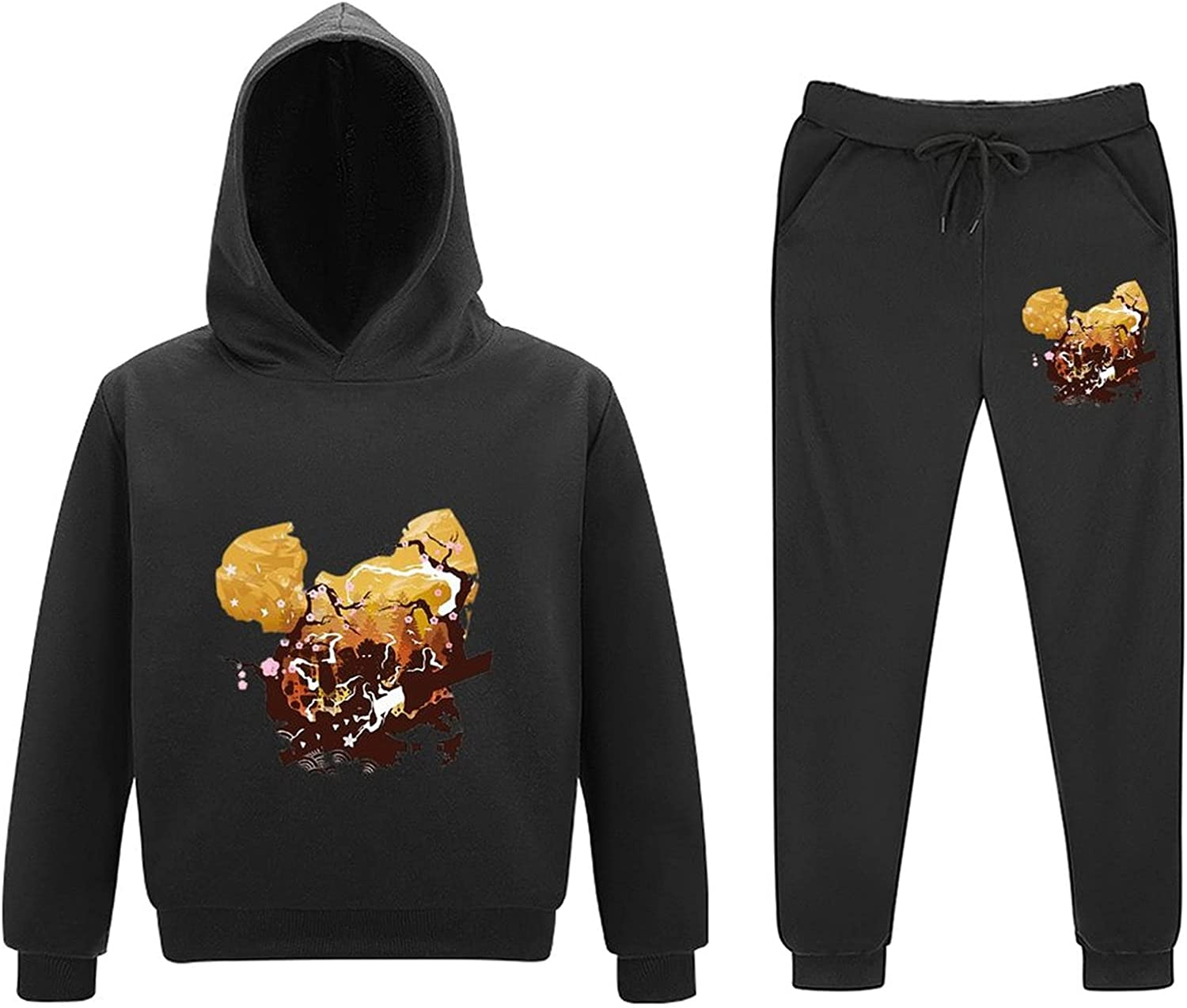 5-11Y Dem-on Slayer Kids Toddler At the Reservation price of surprise Sweatsuits Piece Outfits 2 Pull