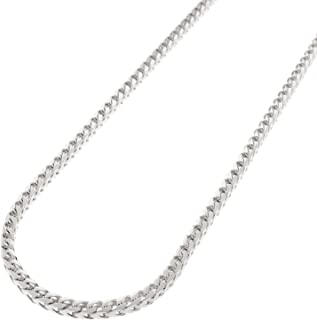In Style Designz .925 Solid Sterling Silver Franco Square Box Link .925 Rhodium Chain Necklaces 1MM - 5.5MM, 16