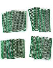 20PCS Protoboard, Dubbelzijdige printplaten, Prototyping Board geperforeerde kaarten, 4 maten Universal Prototype Board, voor doe-het-solderen en elektronisch project