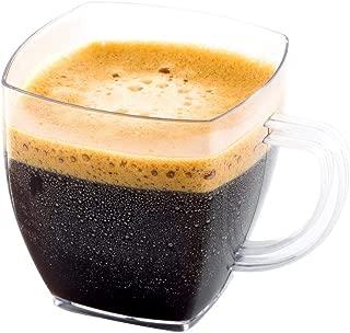 Clear Plastic Mini Cafe Cups - 2 oz - Disposable & Recyclable - Plastic Espresso Cup, Plastic Coffee Cup, Coffee Mug - 100ct Box - Restaurantware
