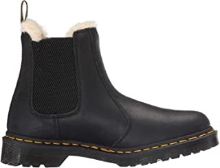 DR MARTENS Women's Leonore Burnished Wyoming Leather Fashion Boot