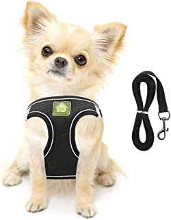 FEimaX Dog Harness and Leash Set, No-Pull Breathable Soft Mesh Puppy Vest Harness Reflective Adjustable Pet Harnesses for ...