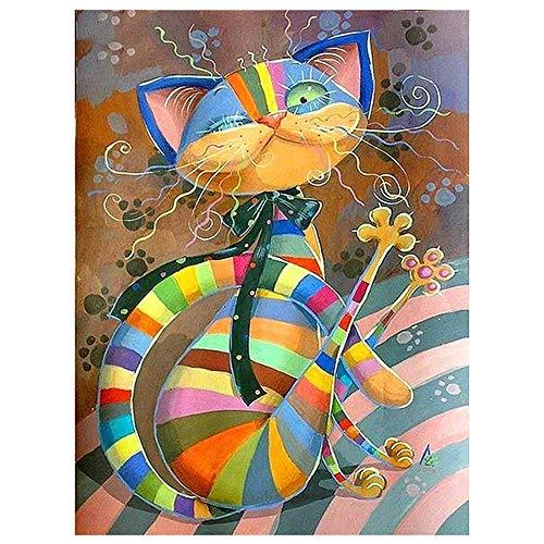 Pintar por números Adultos Animales Gato – Cuadros para Pintar por números...