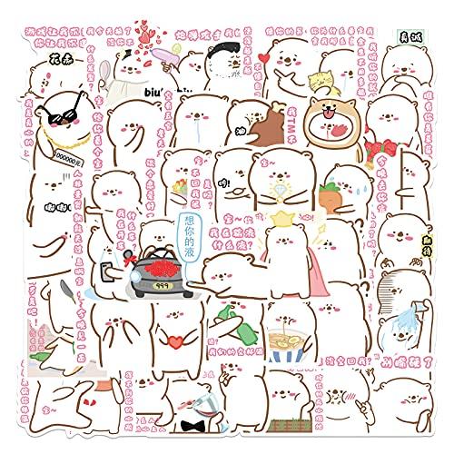 SHUYI Cane leccare Borsa Emoji Graffiti Adesivi Decorazione Valigia Trolley Valigia Notebook Thermos Adesivi Autoadesivi 50 Fogli