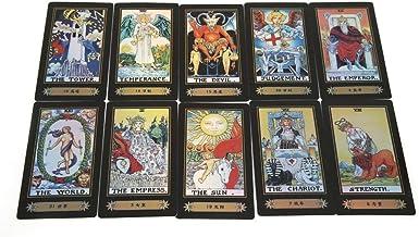Tarot Cards for Beginner Deck Vintage 78 Tarjetas Rider Waite Future Telling Game en Colorful Box Juego de Mesa (Black)