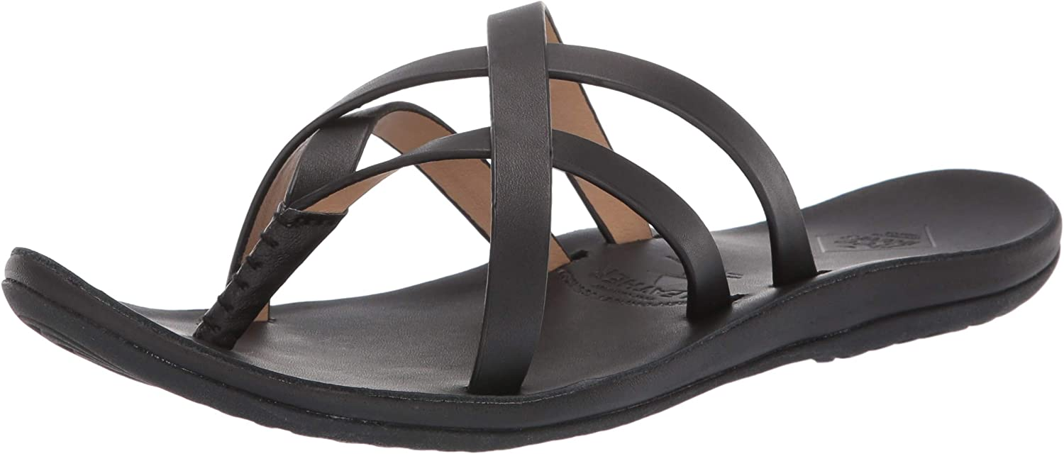 Freewaters Womens Havana Responsibly Sourced Premium Leather Strappy Fashion Sandal Flat Sandal
