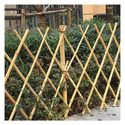 Extensible Jardin Treillis Bois Bambou, Ajustable Rétrécissement Cadre D'obstacle Plantes Patio Vigne Barrière Expansible Clôture Légumes Clôtures Décoratives 180 * 60cm,Clôture Réglable