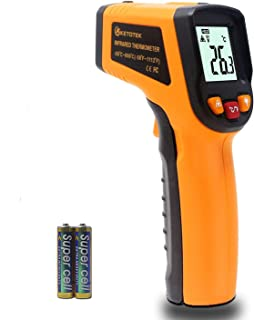 Ketotek KT600Y Non-contact Digital Infrared Thermometer Temperature Gun -58℉-1112℉ (-50℃ - 600℃) IR Laser Infrared Thermometer for Cooking Meat Kitchen Refrigerator Pool Oven