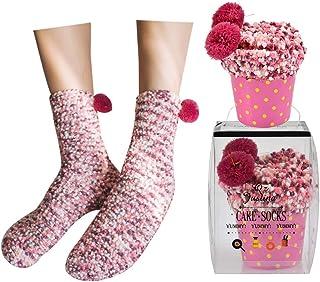 Calcetines gruesos y cómodos de invierno para regalos de Navidad y san Valentin (Rosa)