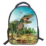 Mochila para niños Dinosaurio, 3D Dinosaurio vívido Impresión Mochilas Escolares para niños de Primaria Kindergarten Niños y niñas (Dinosaur 5)
