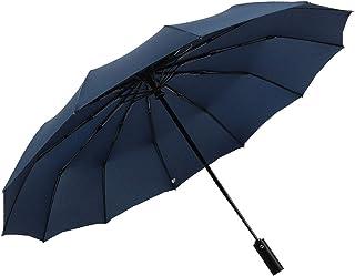 Travel Folding Golf Umbrella,Teflon Umbrella Automatic Switch 12 Bone high Strength Fiberglass not Easy to Break Strong Wind, Strong Waterproof, Sunny and Rainy Dual Purpose Folding Umbrella. (Blue)