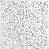 A La Maison Ceilings R139 Spanish Silver Foam Glue-up Ceiling Tile (256 sq. ft./Case), Pack of 96, Plain White