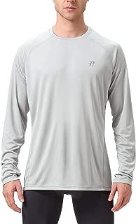 Runhit Long/Short Sleeve T-Shirts for Men,Outdoor UPF 50+ Sun UV Protection Dri-fit Workout-and-Training-Shirts,Rash Guard Hiking Running Fishing Shirts for Men