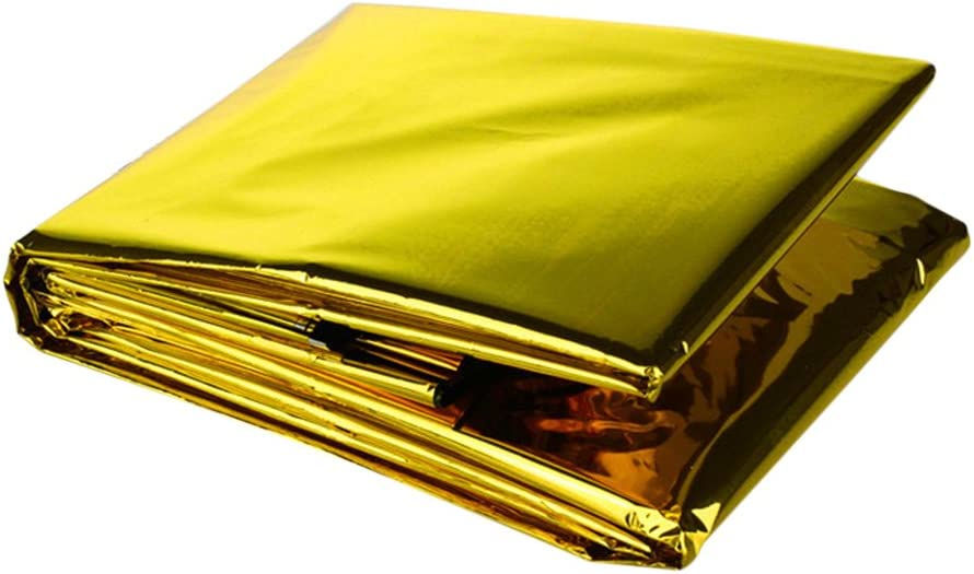 Rare Ehoter Gold Outdoor Emergency Portable OFFicial shop Rescue Blanket Two-Sided