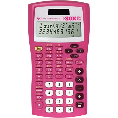 Texas Instruments TI-30X IIS Scientific Calculator – Pretty Pink