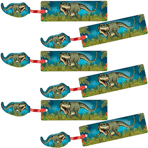 Lutz Mauder 6 Lesezeichen * T-Rex * mit Kordel und Anhänger Geschenk Bücher Buch Kinder Lesen Mitgebsel Dino Dinosaurier Jungen Urzeit