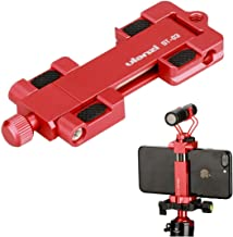 Ulanzi ST-03 Metal Smart Phone Tripod Mount with Cold Shoe Mount and Arca-Style Quick Release Plate for iPhone Xs X 8 7 Pl...
