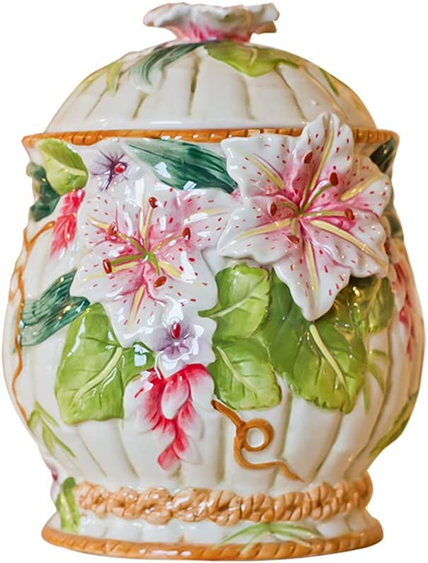 XLSQW Colorful Ceramic Storage Jar Lid Candy Cookie with Tampa Mall NEW before selling ☆ J