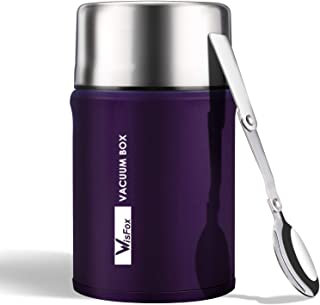 WisFox Termo para Comida 750 ml, Termos Fiambrera Portátil