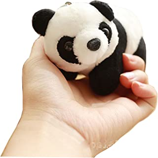 Panda pendant male backpack keychain plush doll female bag ornaments specialty of China
