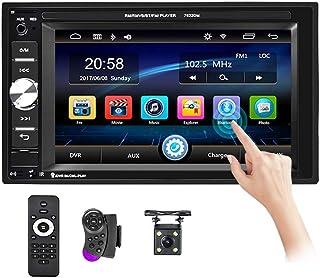 "Podofo Double Din Car Stereo Touch Screen 6.2"" HD Digital Media Car Audio Receiver Bluetooth/FM Radio/SD/USB/AUX-in/Mic i... photo"