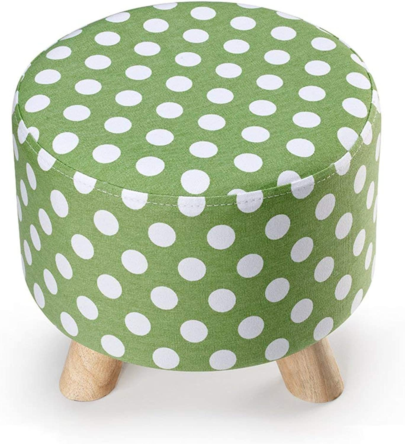 Juexianggou Solid Wood Footstool Three feet Small Stool Detachable wash Change to shoes Stool European Style Sofa Stool Foot Stool for Bedroom (color   P, Size   30x28cm(12x11inch))