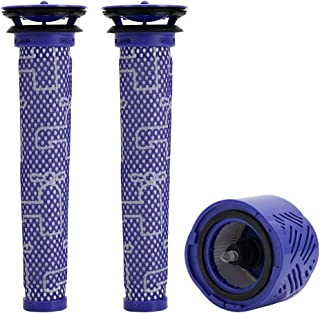 BettaWell HEPA Post-Motor Filter&Pre-Motor Filter Kit Compatible with Dyson DC58 V6 Animal Vacuum, 3 Pack Pre and Post Fil...