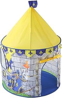 Heqianqian Baby tipi tält slott lektält barnleksak lekhus vikbar mini inomhus utomhus leksak för inomhus- och utomhusspel