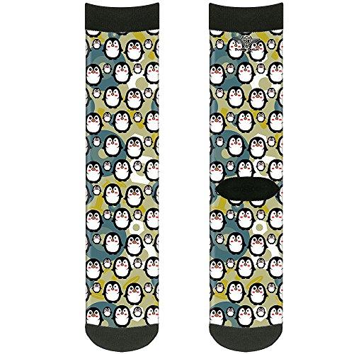 Buckle Down unisex-erwachsene Socks Penguin Cartoon Crew Rucksäcke, mehrfarbig