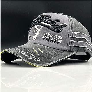 Blue Beach Baseball Cap Brand Men Dad Casquette Women Snapback Caps Bone Hats for Men Fashion Vintage Gorras Letter Cotton Cap (Color : Gray, Size : 56-60CM)
