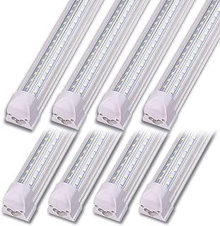 Kihung LED Shop Light 4ft, V Shape T8 LED Tube Light Fixture, Integrated 4 Foot Led Bulbs, 40w 5000 Lumens 6000K Cool White, 8-Pack