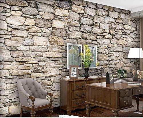 XZCWWH Benutzerdefinierte 3D Raum Tapete Fototapete Wohnzimmer Mural Natursteinwand 3D Foto Bar Ktv Hintergrund Wandaufkleber,200Cm(W)×140Cm(H)