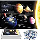 Jigsaw Puzzles 1000 Pieces for Adults Nine Planets Solar System Educational Fun Game Intellectual Decompressing Interesting Puzzle
