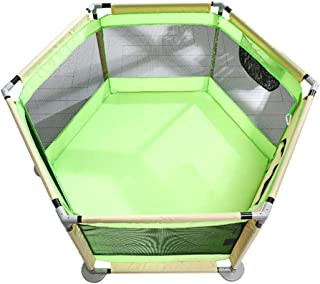 LXDDP Playpen Safety Hexagon Toddlers Playpen  Anti-rollover Portable Baby  Anti-collision Activity Center Play Fence  Green