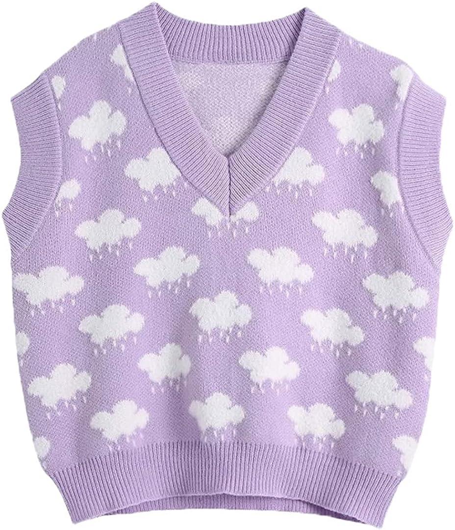 Women V Neck Knitting Sweater Female Sleeveless Casual Slim Vest Leisure Pullovers Tops