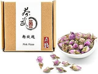Cha Wu-[A] Pink Rose Buds(3oz),Loose Leaf Flower Petal Tea,Natural Fragrant Herbal Tea ,Afternoon Tea
