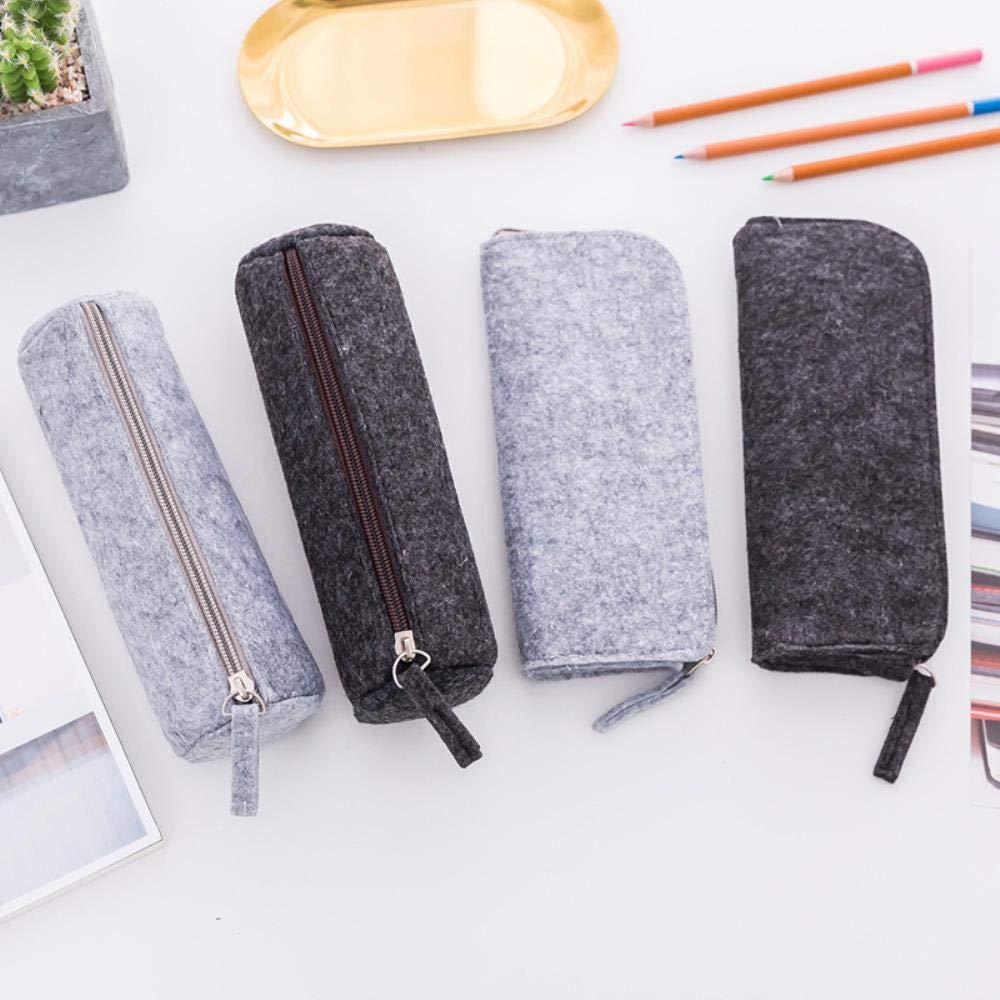 Estuche de lápices de color sólido negro/gris estuches escolares estuches estuche de lápices estuche escolar suministros escolares papelería estudiantil, color send random: Amazon.es: Oficina y papelería