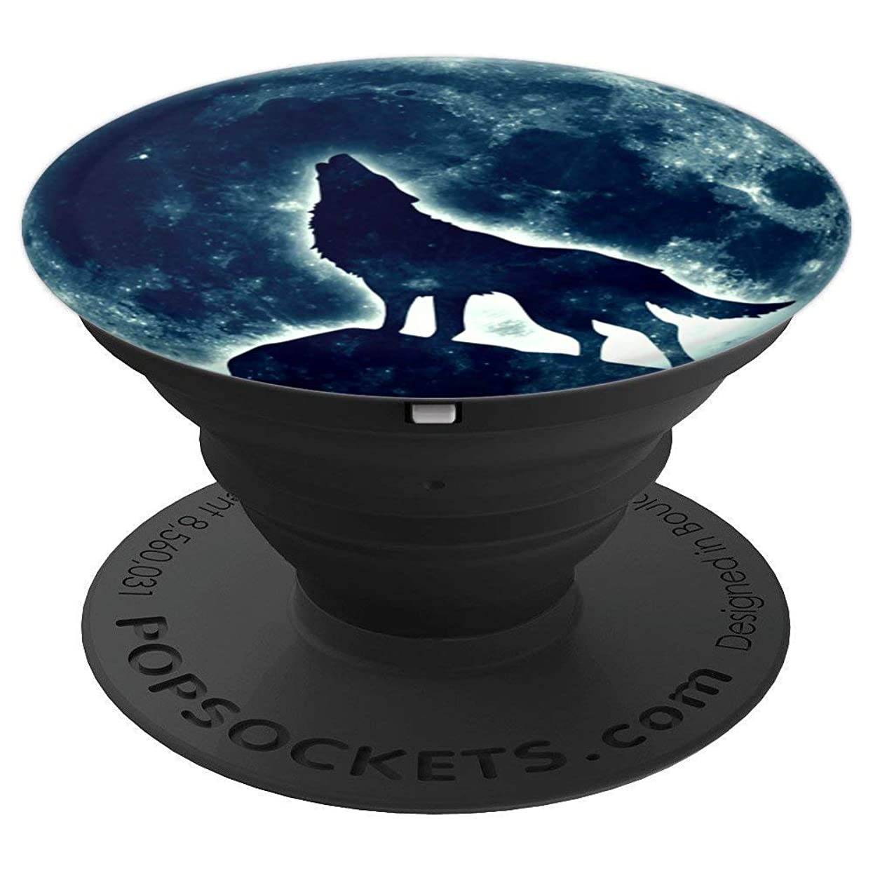 Howling Wolf Magic Full Moon Moonphase Galaxy Space Design - PopSockets Grip and Stand for Phones and Tablets s15939998179178