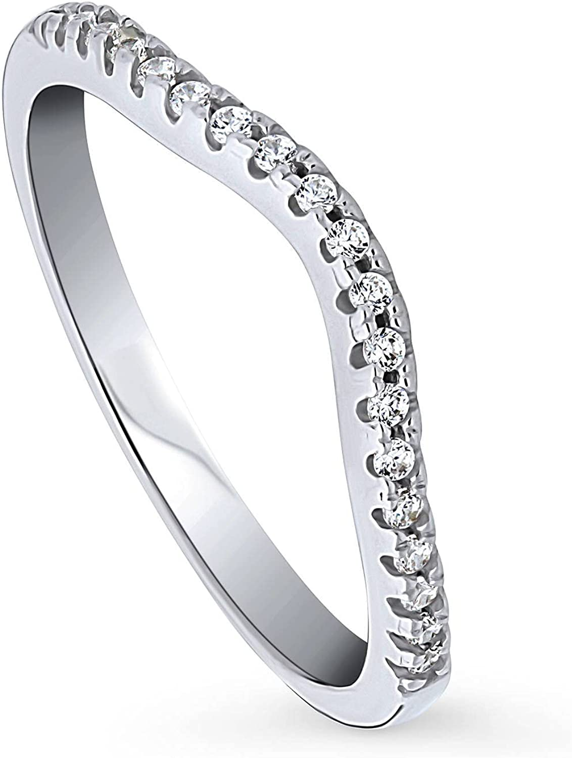 BERRICLE Rhodium Plated Sterling Silver Zirconia Max 57% OFF Directly managed store Cubic Weddin CZ