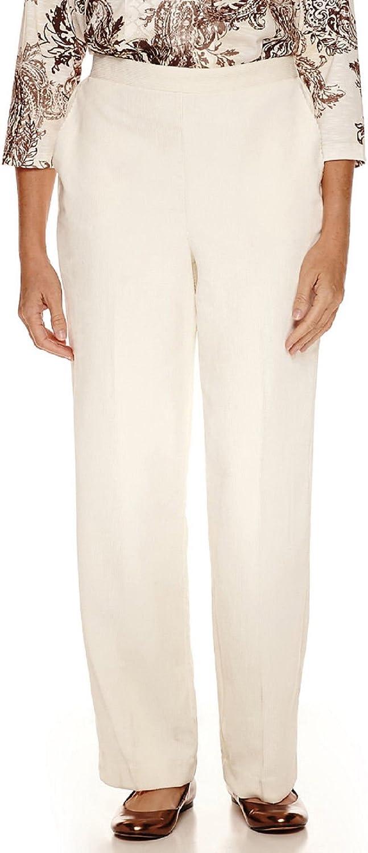 ALFRED DUNNER  48 Womens New 1507 Ivory Corduroy Pants 14 Petites B+B