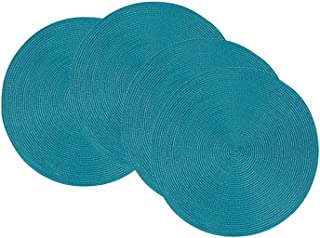Now Designs Round Disko Placemats, Set of 4 Peacock